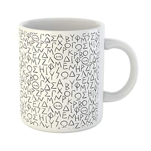 Semtomn Funny Coffee Mug Ancient Greek Letters History