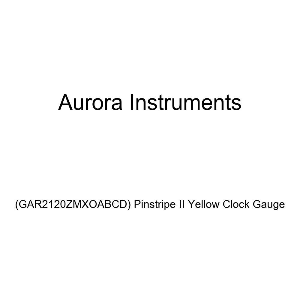 Aurora Instruments GAR2120ZMXOABCD Pinstripe II Yellow Clock Gauge