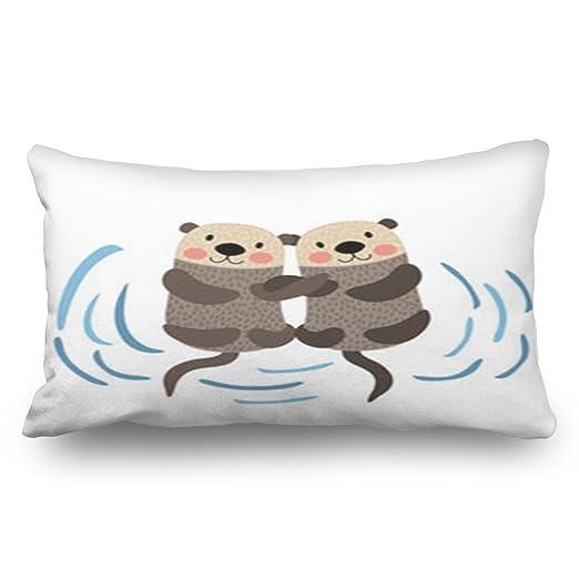 DiDiDong Fundas de Almohada Cubiertas de Almohada Otter ...