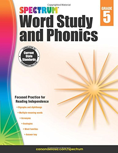 - Spectrum Word Study and Phonics, Grade 5