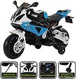 Moto électrique pour enfant 12V (licence BMW) 4 couleur disponible (Bleu)