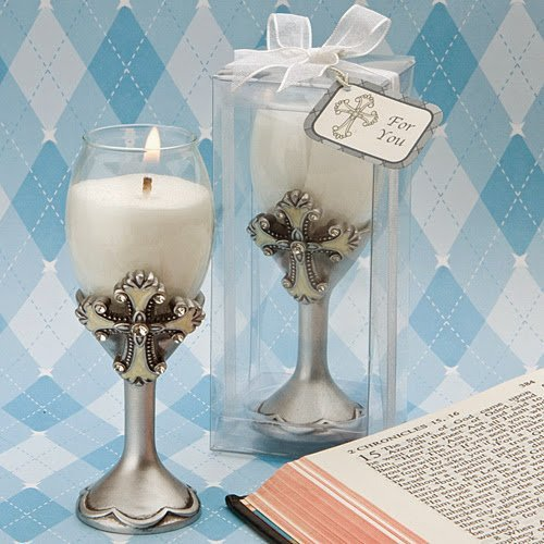 (40 Cross Design Champagne Flute Candle Holders by Fashioncraft)