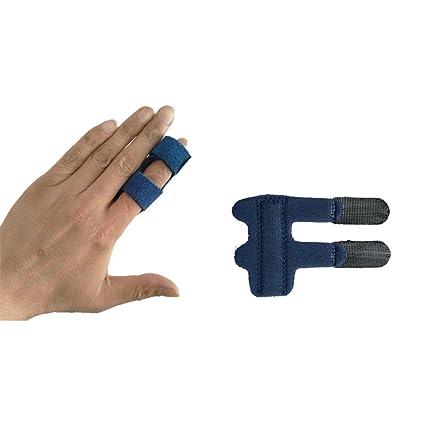 Férula para dedos Abrazadera Trigger, dedo de mazo, tejido elástico enderezador inmovilizador de nudillos con soporte de metal