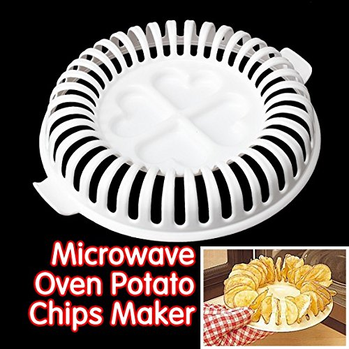 Microwave Chips - Low Calories Microwave Oven Fat Free Potato Chips Maker Baking & Pastry Tools Chips Rack kitchen tools NG4S- Kitchen Machine Tools]()