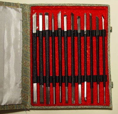 Stone Sculpture Supplies - Set of 12 Stone Carving Chisels/Knives