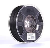 eSUN 1.75mm ePA-CF Carbon Fiber Filled Nylon Filament 1KG (2.2lb) Spool for 3D Printers, 1KG. Black by ESUN