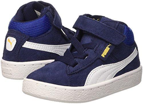 Puma 1948Mid V Inf- Zapatillas deportivas para niños Azul (Peacoat/Bianco)