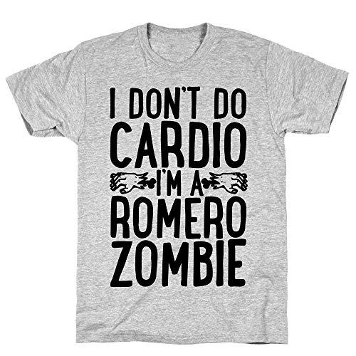 LookHUMAN I Don't Do Cardio, I'm a Romero Zombie 2X Athletic Gray Men's Cotton -