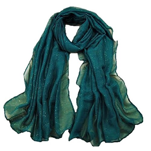 Neyroz Malaysia Muslim Turban Women's Autumn Spring Fashion Elegant Gold Stamp Pure Color Lake Blue Long Scarf Shawl Wrap Scarves - It Malaysia Store