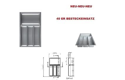 Bandeja organizadora de cubiertos para cajón - 40 dimensiones (organizador): 292 x 473