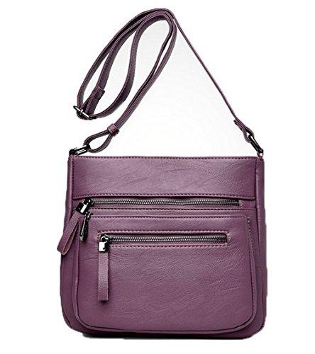 Des à Femme Cuir Pu Violet sacs VogueZone009 Achats Sacs bandoulière Zippers CCAFBP180891 gUfFXq
