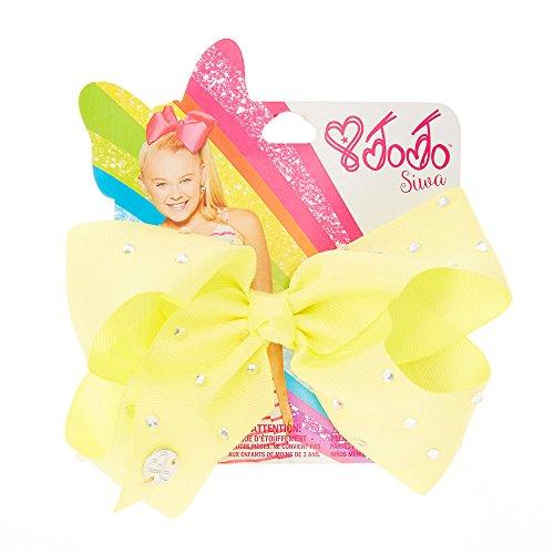 JoJo Siwa Small Rhinestone Lemon Signature Hair Bow Dance (Claires Rhinestone)