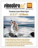 11'' X 17'' 50 Sheets Premium Luster Inkjet Photo Paper [Office Product]