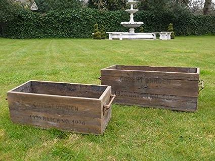 S2 Covent Garden London Antique Wooden Storage Boxes Crates Vintage Old Large