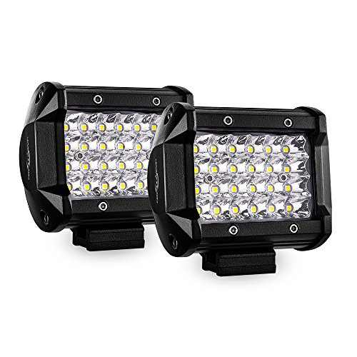 MICTUNING 4 inch Quad-row LED Pods, Offroad Driving Fog Lights - 7200LM Spot LED Light Bar Work Lamp for Jeep SUV ATV UTV Truck