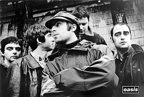 (Oasis (band) Liam Gallagher, Noel Gallagher Britpop from UK Music Poster Size 24x35 Inch O-55132)
