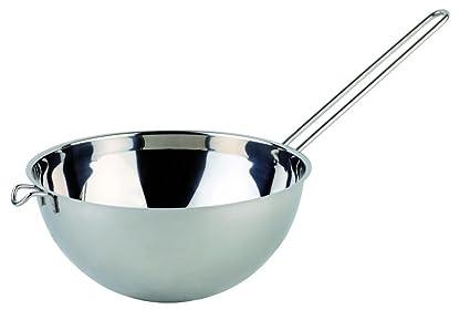 Aps Agua Baño/Fusible Tazones 1,5 litros de Acero Inoxidable, 18 cm, Altura 9 cm, para ollas de 20 – 26 cm