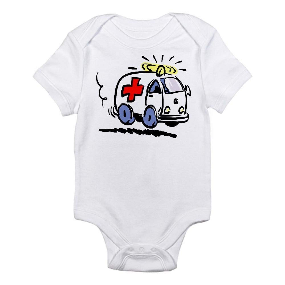 Ambulance Newborn Boys Girls Short Sleeve Romper baby bodysuit