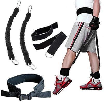 Workouty Bounce Trainer Set Leg Strength Jump Training Waist Belt Ankle Cuff Resistance Band Home Gym Equipment