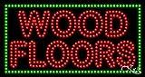 17x32x1 inches Wood Floors Animated Flashing LED Window Sign