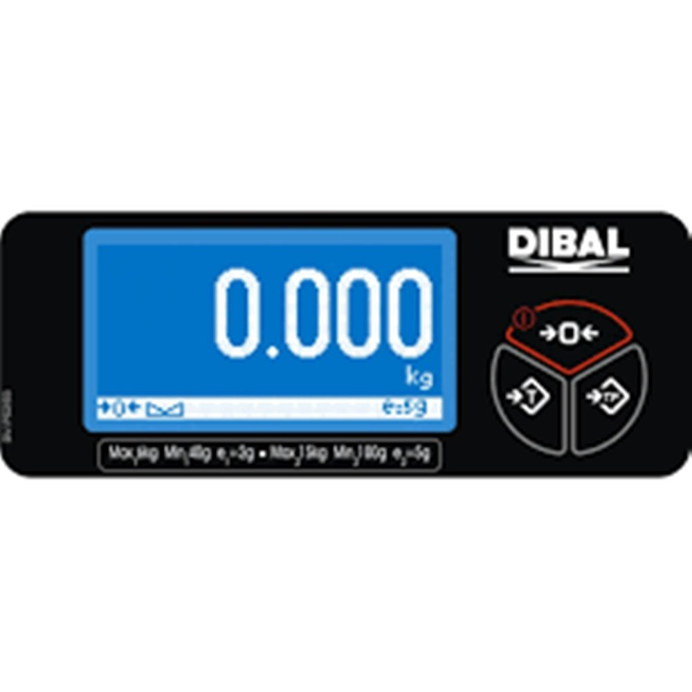 Balanza dibal D-pos 400 2 displays 1 en torreta 1 en base de15Kg/5g.Homologada.: Amazon.es: Industria, empresas y ciencia