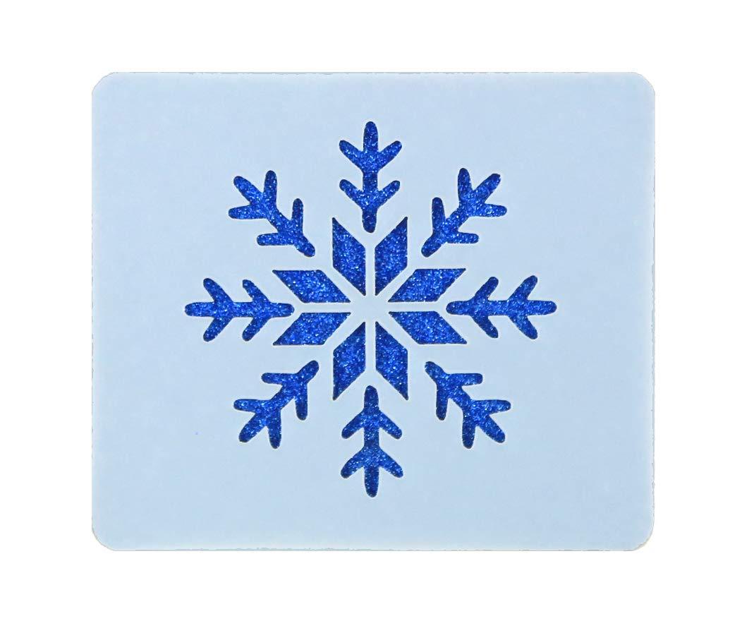 Festive Snowflake Face Painting Stencil 6cm x 7cm 190micron Washable Reusable FS Stencils