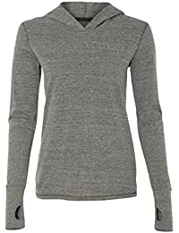 Women's Crystal Triblend Hoodie Pullover with Thumbholes