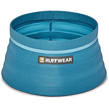 Ruffwear - Bivy Collapsible Dog Bowl, Blue Spring, 60 Fluid Ounce Capacity