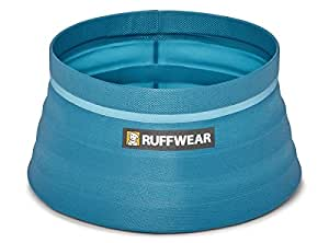Ruffwear - Bivy Dog Bowl, Ultralight, Collapsible, Waterproof Food Bowl, Blue Spring, 60 Fluid Ounce Capacity
