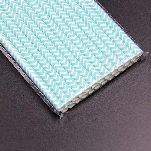 Disposable Drinkware - 25Pcs/Lot Striped Paper Straws Drinking Straw, Paper Straws Bulk, Paper Straws Drinking, Color Changing Straws- Tiffany