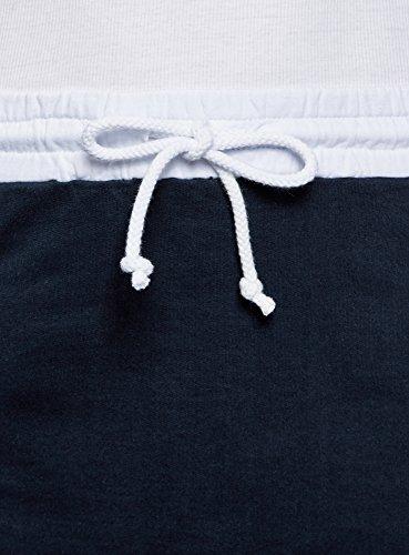Bleu lastique Ultra oodji Femme Taille 7910b Jupe Maille YnRFw