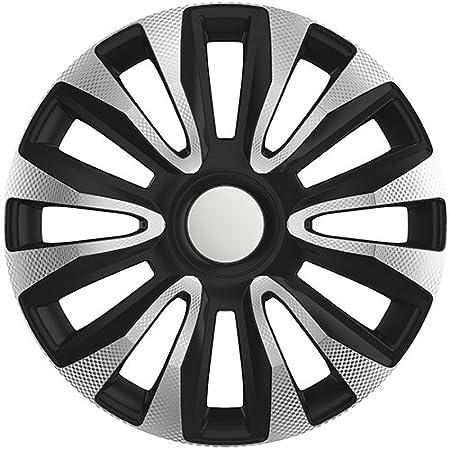 ZentimeX Z778377 Radkappen Radzierblenden universal 14 Zoll Silver black