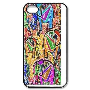 ZK-SXH - Tribal Elephant Pattern Personalized Phone Case for iPhone 4,4G,4S, Tribal Elephant Pattern Customized Case