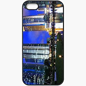 Protective Case Back Cover For iPhone 5 5S Case Evening Lights Black