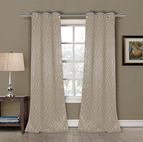 Duck Curtain Panel - Duck River Textiles TAYLA 11603D=12 Blackout Grommet Pair Panels (2 Piece), 36
