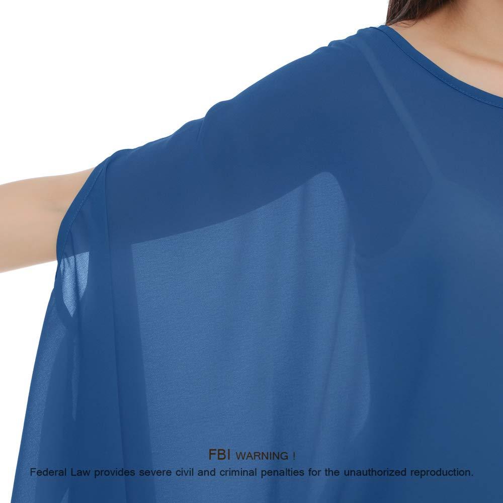 Womens Chiffon Baloon Batwing Sleeve Top Ladies Baggy  Tunic Top Blouse Dress UK