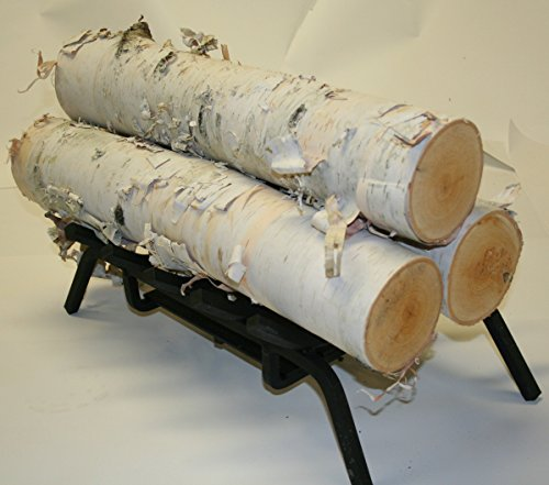 Set of 3 White Birch Fireplace Logs Approximately 18 inch Long x 3.5 inch 5.5 inch Diameter