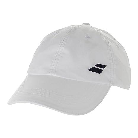 2d2a2736a56 Amazon.com  Babolat Basic Logo Cap-One Size Fits All-White  Sports ...