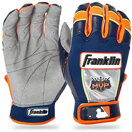 Franklin Sports MLB Adult Miguel Cabrera CFX Pro Signature Series Batting Glove, Pair, XX-Large, Navy/Orange
