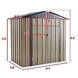 U-MAX 6' x 4' Outdoor Metal Storage Shed, Steel