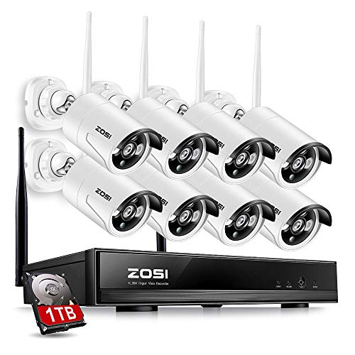 ZOSI 8CH Wireless Security Cameras System With 1TB Hard Driv