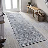 Decomall Runner Rug Printed Flat Long Carpet for