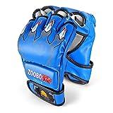 Flexzion MMA Gloves (Claws Print, Blue) - 8oz