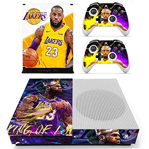 Vanknight Xbox One S Slim (XB1 S) Console 2 Controllers Remote Skin Set James Vinyl Skin Decals Stickers Covers Wrap for XB1 S