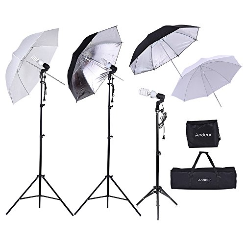 Andoer Photography Photo Lighting Kit Day Light Umbrella Continuous Lighting Kit for Studio Photography Portrait Lighting and Video Lighting by Andoer