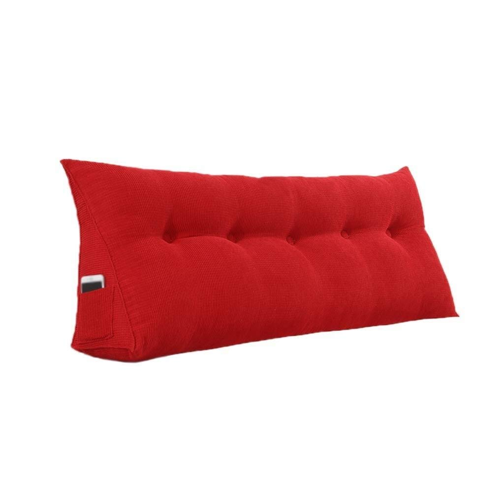 Bbhhyy Triangular Wedge Bedside Back Cushion,Cotton Washable Sofa Pillow Bedroom Sofa Clothing Store Cushion Multiple Colour Multiple Sizes (Color : Red, Size : 180CM) by Bbhhyy