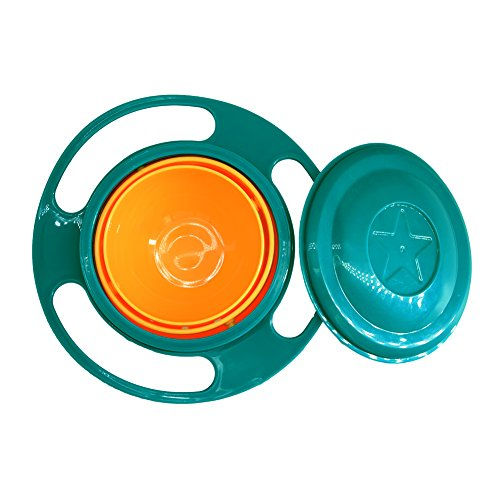 51shP9vuFrL - Ztl Baby Gyro Bowl 360 Dgree Rotation Spill Resistant Gyroscopic Bowl with Lid Toy Tableware for Kids Toddlers
