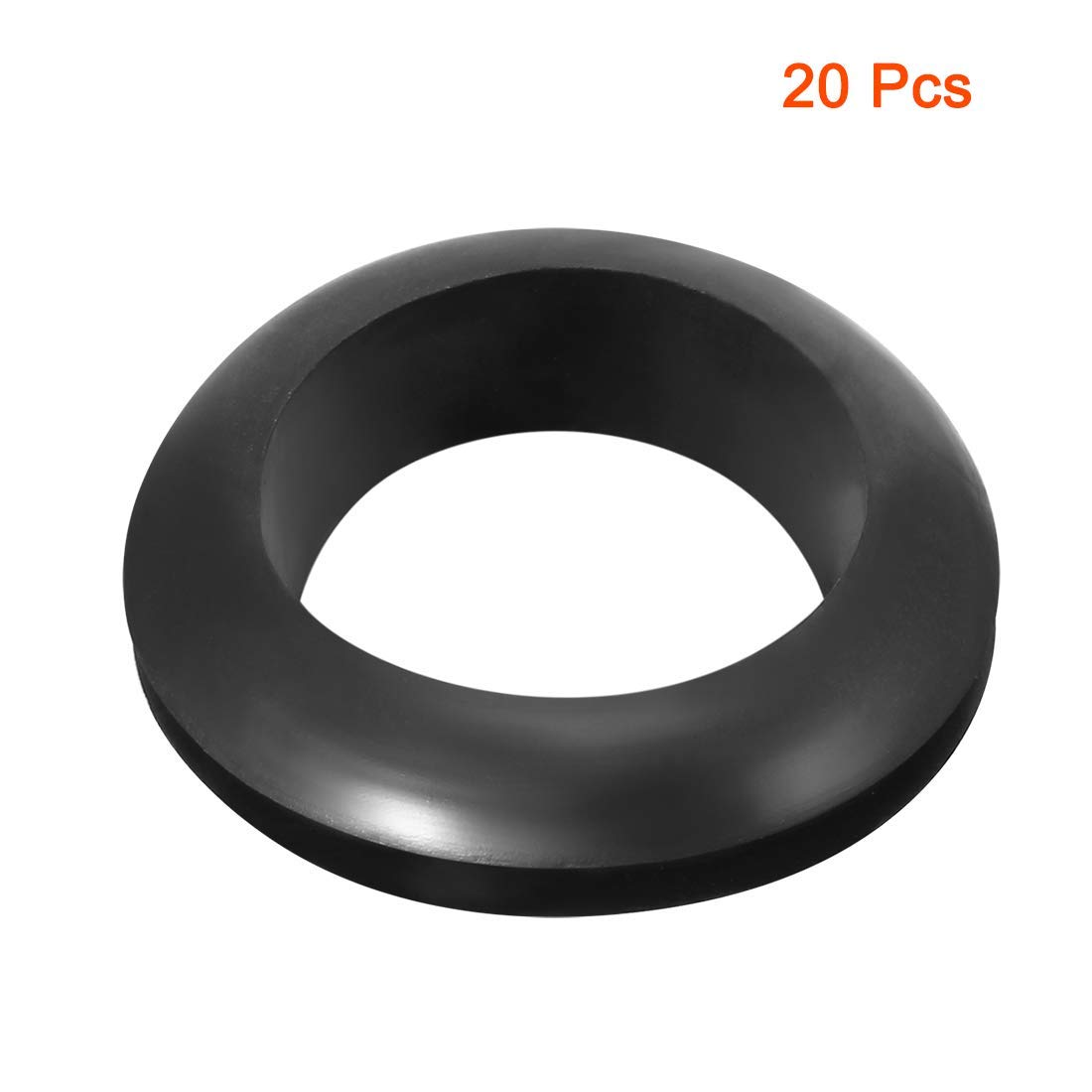 Wire Guard Oil Resistant Armor Rubber Washer 22 mm Internal Diameter 30 Pieces Black