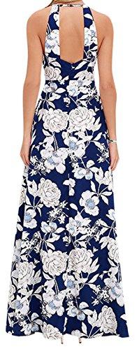 erdbeerloft - Damen A-Linie Maxikleid mit Floral Muster, XS-XL, Mehrfarbig