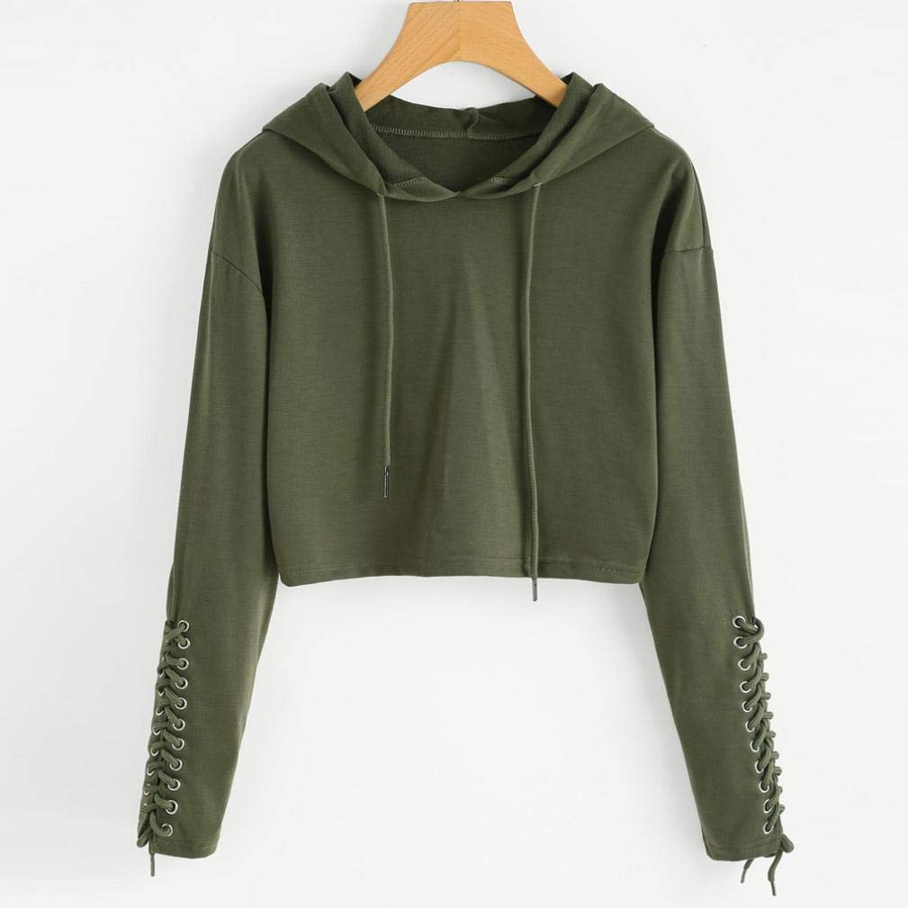 Overdose OtoñO Mejor Venta Mujeres Sudadera con Capucha Sudadera Jumper Sweater Crop Top Coat Sports Pullover Tops Dama Sudadera: Amazon.es: Ropa y ...